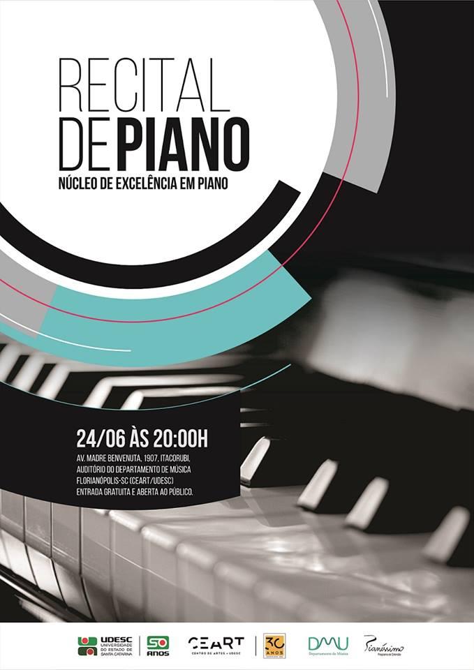 Recital gratuito de piano com crianças e adolescentes do Núcleo de Excelência em Piano