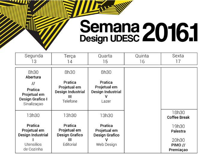 Semana Design Udesc 2016.1
