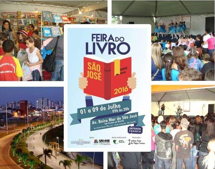 Feira do Livro de São José terá sessões de autógrafos e programação cultural gratuita