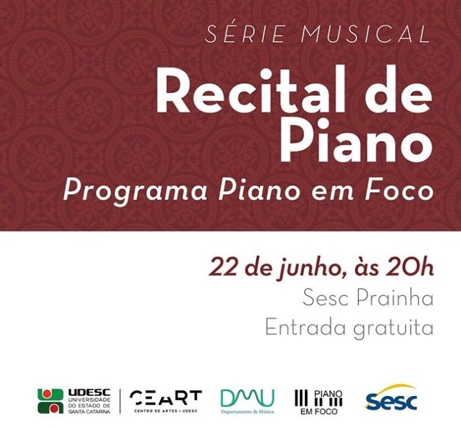 4º Recital de Alunos do projeto Série Musical - Piano Em Foco
