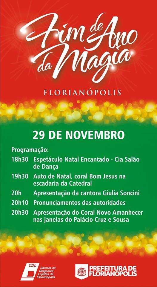 Abertura do Natal 2013 em Florianópolis - programação
