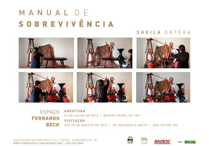 """Exposição """"Manual de Sobrevivência"""" de Sheila Ortega"""