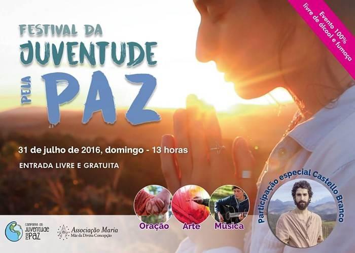 I Festival da Juventude pela Paz com apresentações musicais e exposição de arte