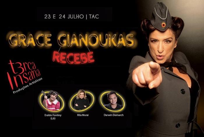 Grace Gianoukas recebe