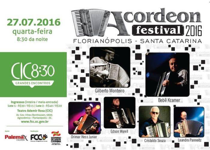 Acordeon Festival 2016 no CIC 8:30 de julho