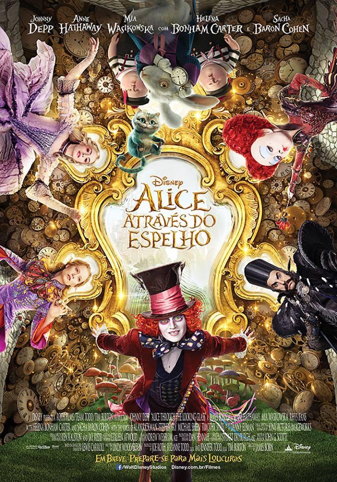 """Sessão gratuita do filme """"Alice através do espelho"""" no Sábado Animado de julho"""