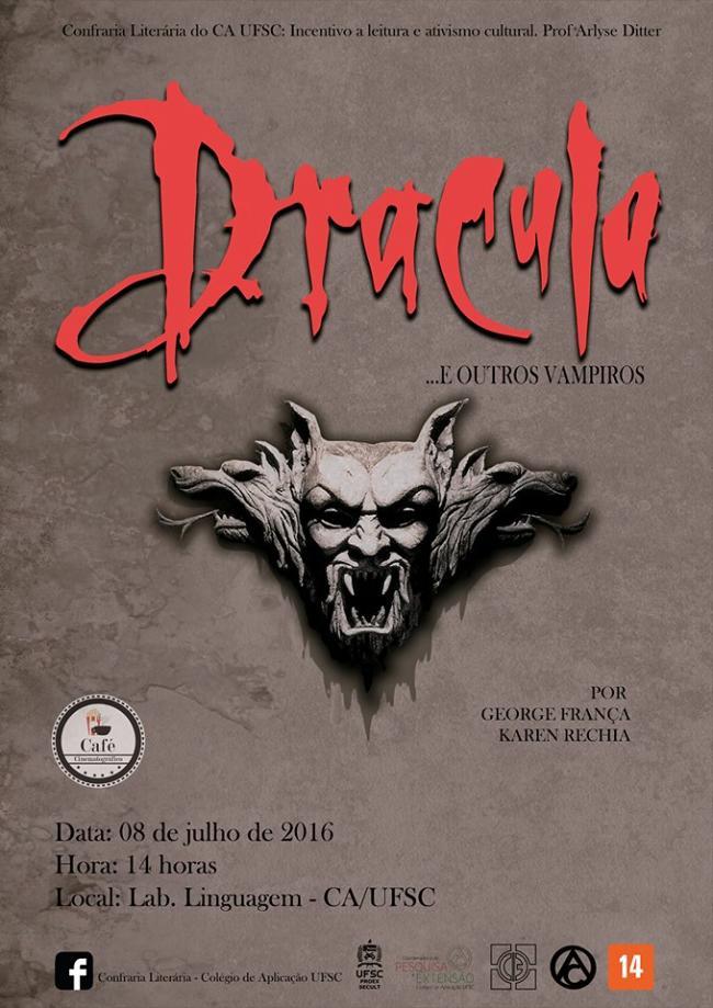 "Confraria Literária exibe filme ""Drácula de Bram Stoker"" e debate sobre vampiros"