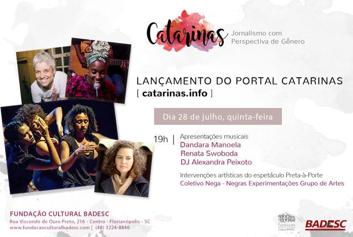 Lançamento do Portal Catarinas que vai abordar gênero, feminismo e direitos humanos
