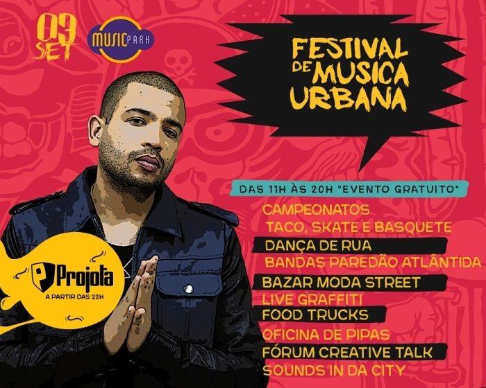 Festival de Música Urbana – FMU com campeonatos esportivos, shows, bazar, Food Trucks e oficinas