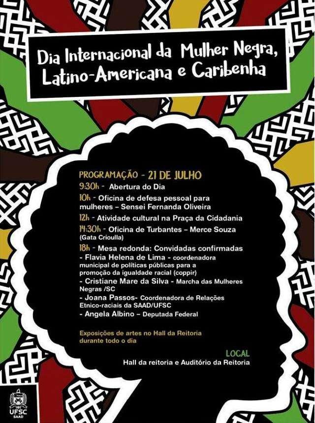 Comemoração do Dia Internacional da Mulher Negra, Latino-Americana e Caribenha