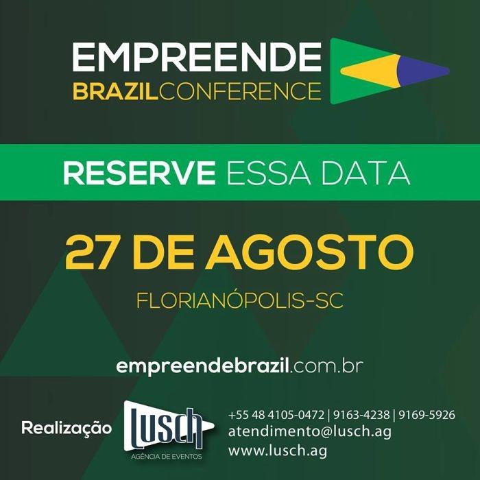 3ª Empreende Brazil Conference com 30 palestrantes e 10 temas, em 5 arenas simultâneas