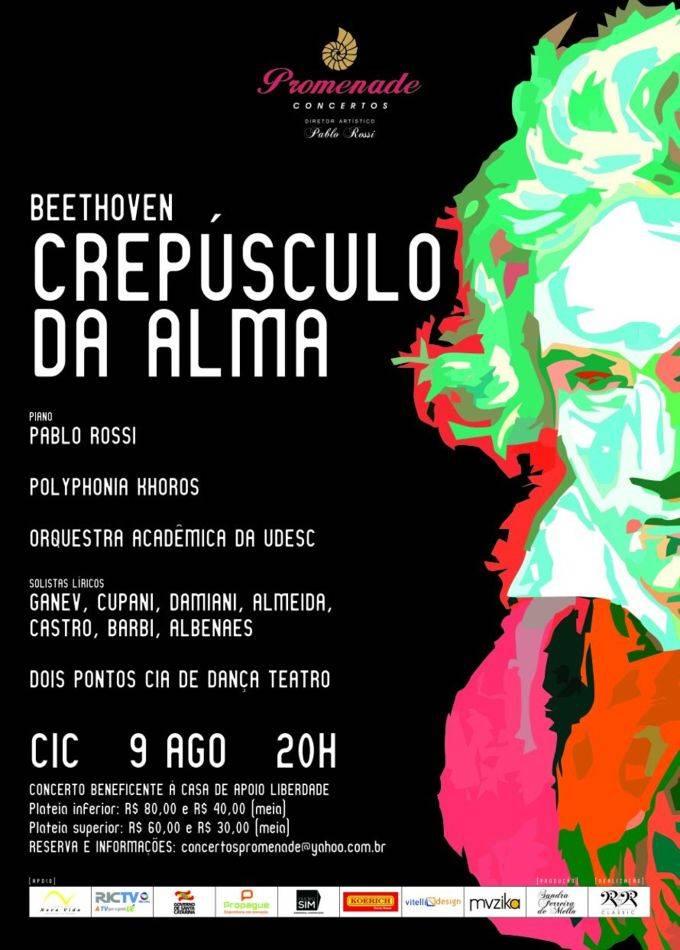 """Concerto beneficente """"Crepúsculo da Alma"""" com pianista Pablo Rossi e mais 30 artistas"""