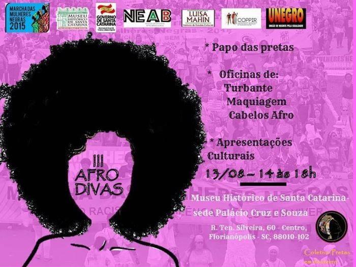 III Afro Divas terá apresentações culturais, rodas de debates e exposição de artesanatos