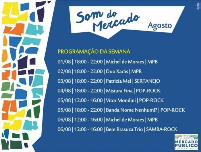 Mercado Público tem programação musical e telões para transmissão ao vivo das Olimpíadas