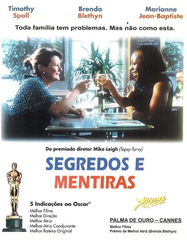 Cinema, Chá & Cultura exibe Segredos e Mentiras (Secrets and Lies, 1996), de Mike Leigh