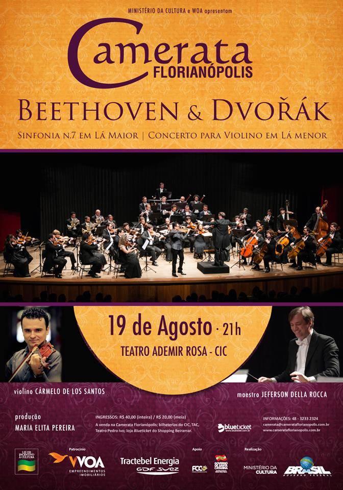 Camerata Florianópolis apresenta concerto sinfônico com obras de Beethoven e Dvořák
