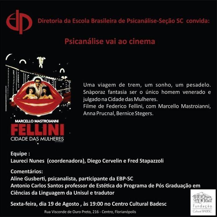 "Cineclube Badesc exibe ""Cidade das Mulheres"" (La Città delle Donne) de Federico Fellini"