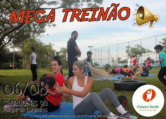2ª edição do Mega Treinão Espaço Saúde ao ar livre no Parque de Coqueiros