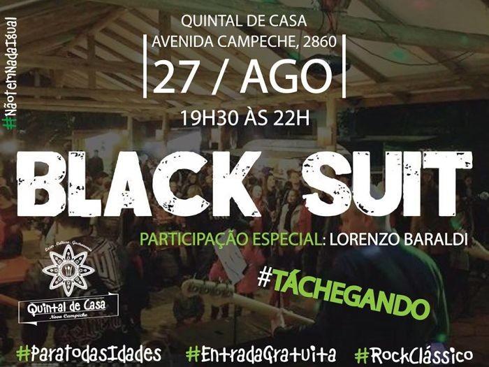 Banda Black Suit no Quintal de Casa - Rock Clássico para todas idades