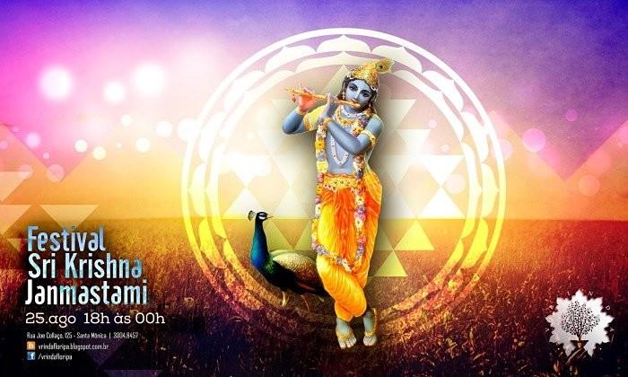 Festival Krishna Janmastami - aniversário de Krishna com banquete vegetariano e programação especial