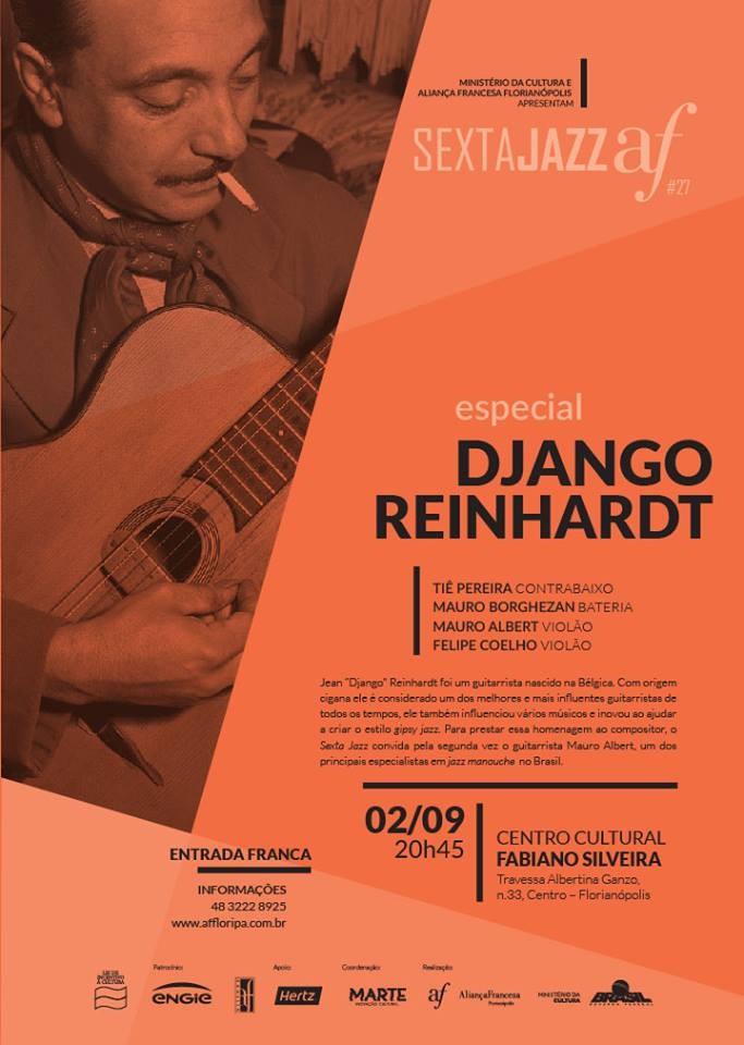 Sexta Jazz AF especial Django Reinhardt com Mauro Albert e Felipe Coelho