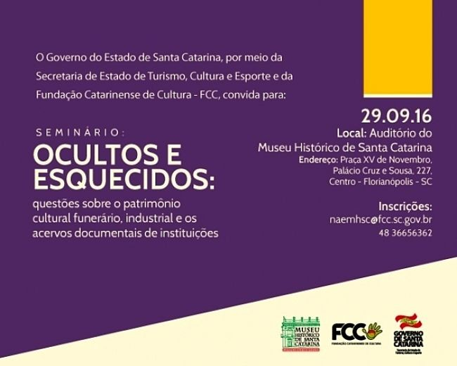 Seminário sobre patrimônio cultural funerário, industrial e acervos documentais