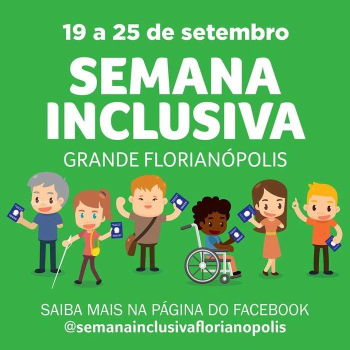 Semana Inclusiva Grande Florianópolis terá atividades educativas, culturais e esportivas