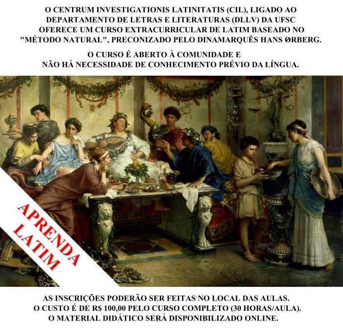 Curso extracurricular de Latim começa em setembro com aula experimental gratuita