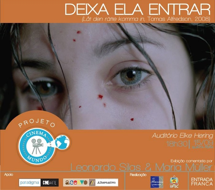 """Projeto Cinema Mundo realiza exibição comentada do filme """"Deixa ela entrar"""" (Suécia, 2008)"""