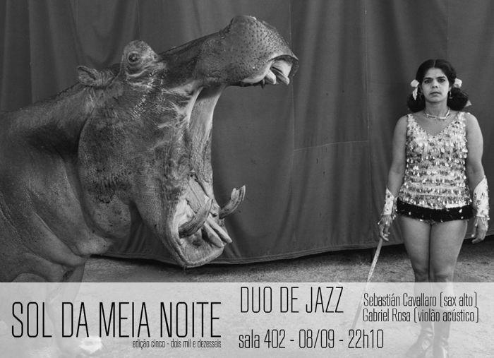 Sol da Meia Noite tem Duo de Jazz com Sebastián Cavallaro no sax e Gabriel Rosa no violão