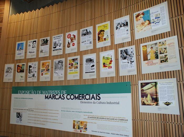"""Exposição """"Matrizes de Marcas Comerciais: Elementos da Cultura Industrial"""""""