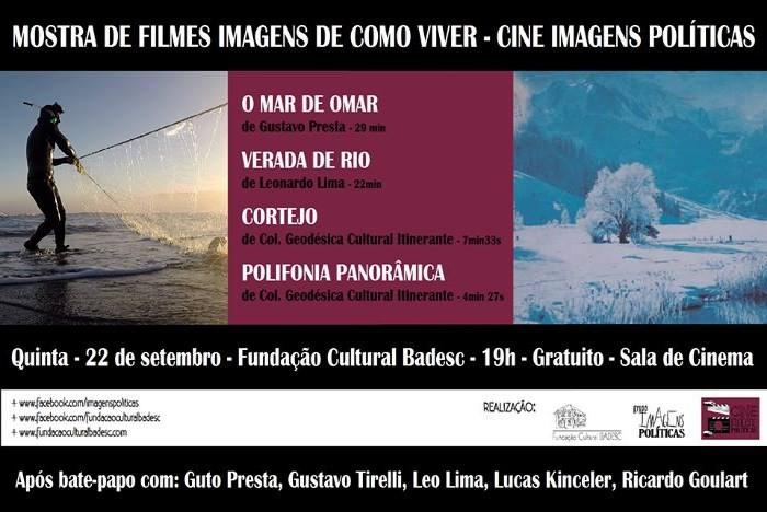 """Cine Imagens Políticas exibe """"Mar de Omar"""", """"Verada de Rio"""", """"Cortejo"""" e """"Polifonia Panorâmica"""""""