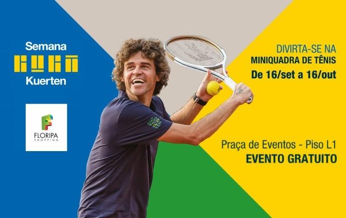 Miniquadra de Tênis gratuita - Semana Guga Kuerten 2016