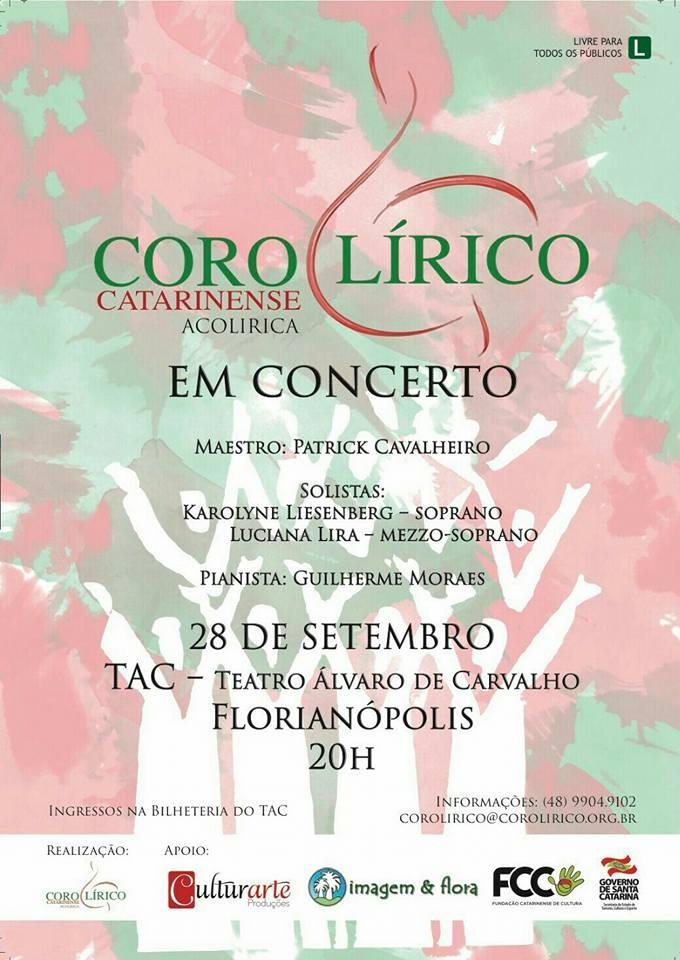 Concerto do Coro Lírico Catarinense com sopranos Karolyne Liesenberg e Luciana Lira