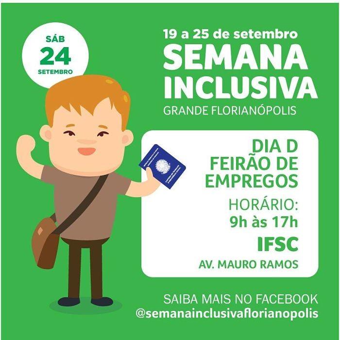 Dia D Grande Florianópolis - feirão de empregos para pessoas com deficiência