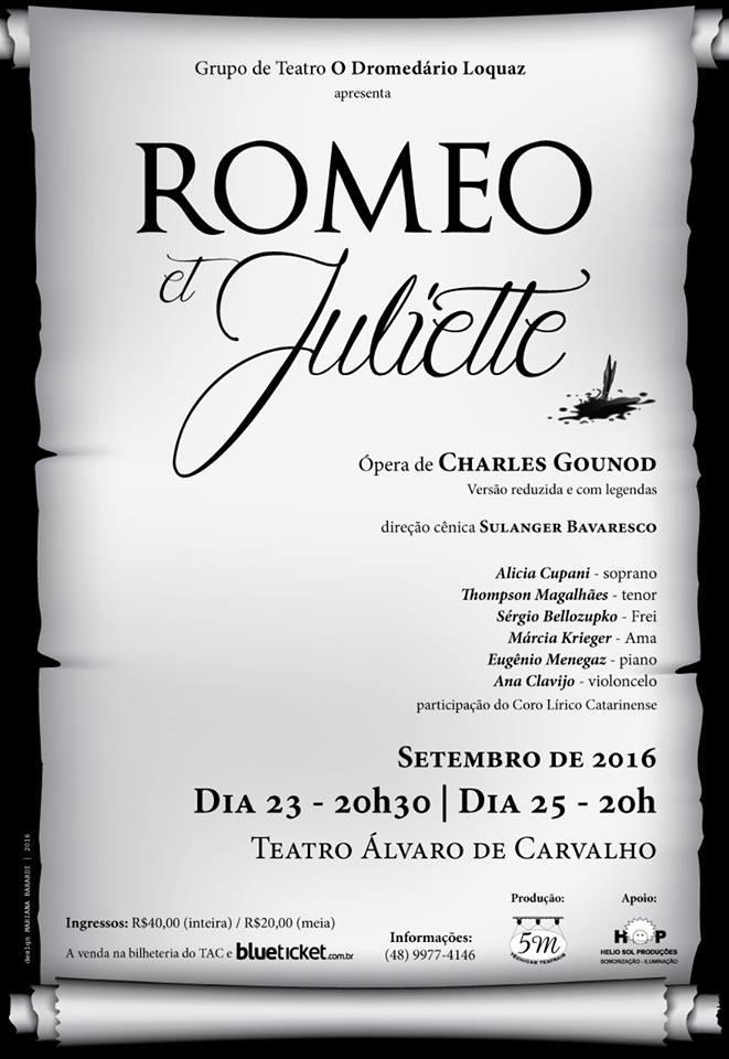 "Ópera ""Romeo et Juliette"" do compositor francês Charles Gounod"