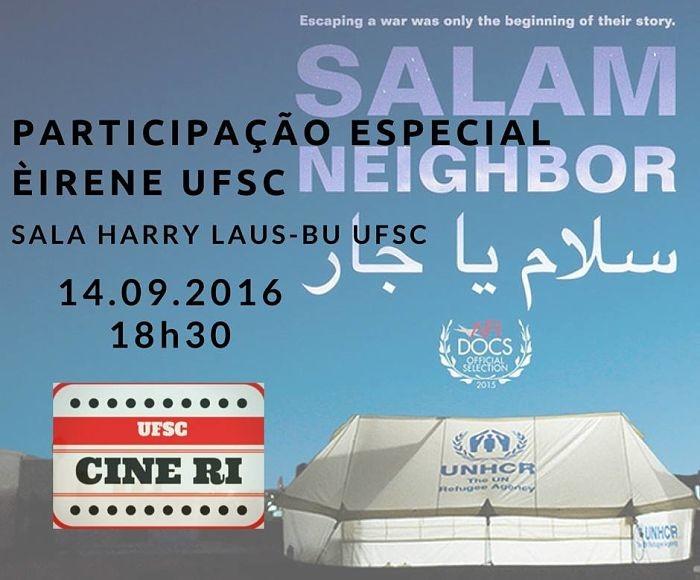 """Projeto Cine RI exibe filme """"Salam Neighbour"""" com participação do Eirenè UFSC"""