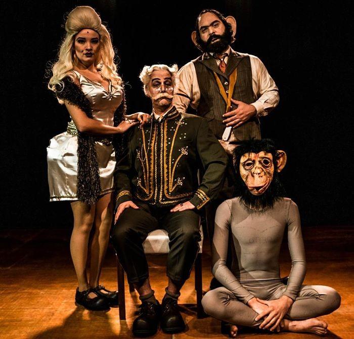 """Espetáculo gratuito """"A Armadilha de Medusa"""" da Elefants Companhia de Teatro"""