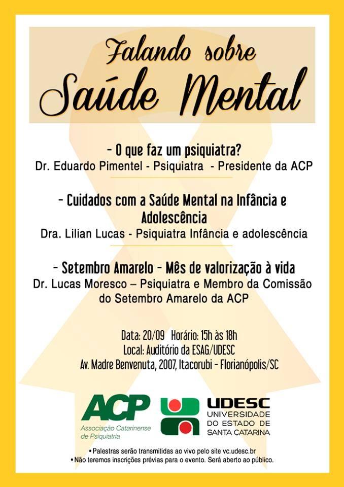 Três palestras gratuitas sobre saúde mental