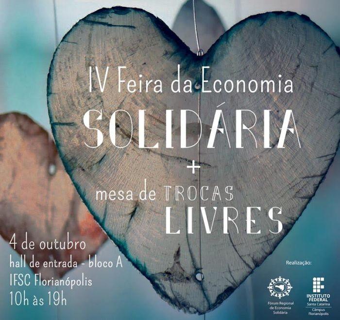IV Feira de Economia Solidária (EcoSol) do IFSC terá mesa de trocas livres