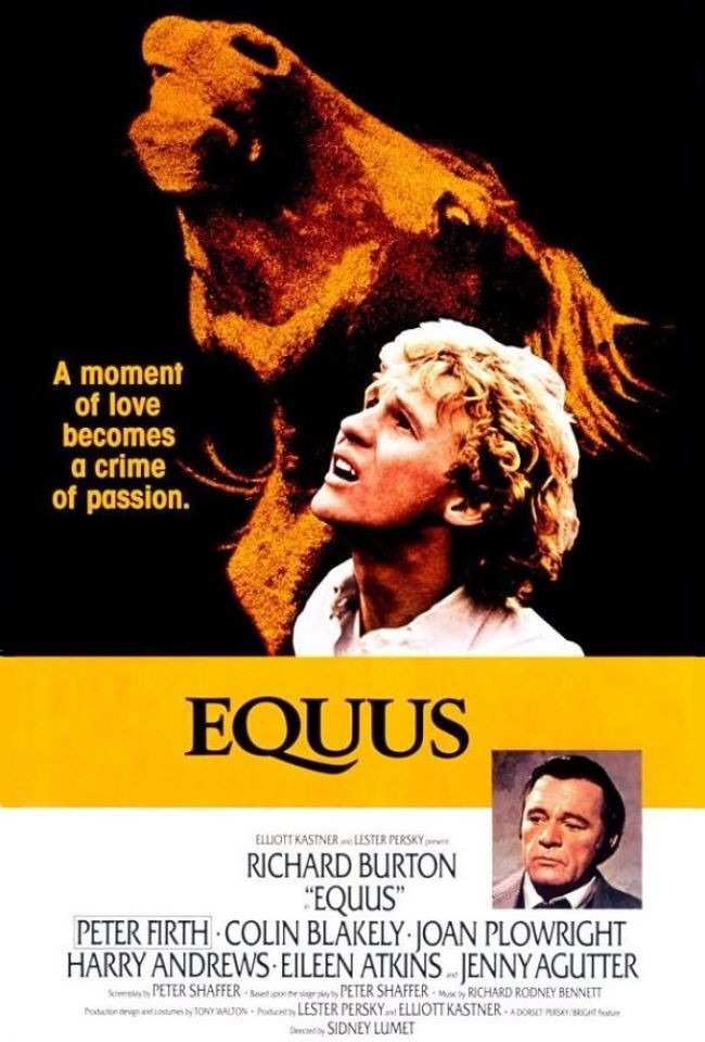 """Cineclube Badesc exibe """"Equus"""" (1977) de Sidney Lumet"""