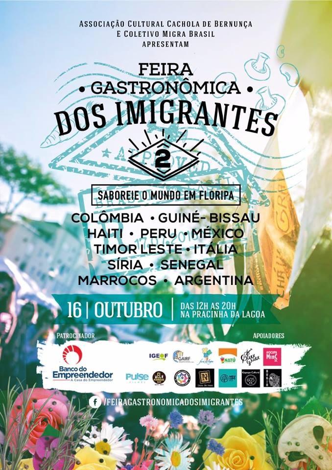2ª Feira Gastronômica dos Imigrantes de Florianópolis com pratos típicos de onze países