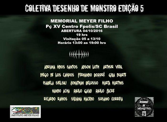 """5ª edição da exposição coletiva """"Desenho de Monstro"""""""