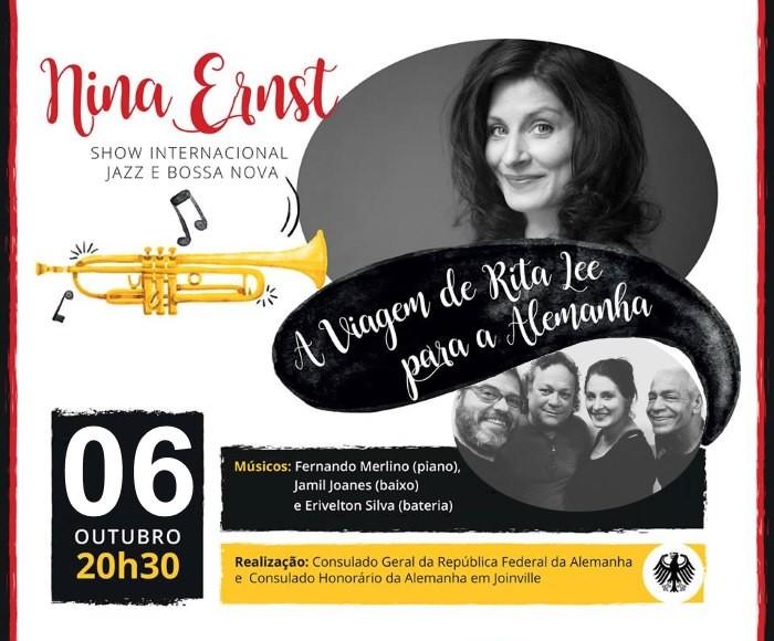 """Concerto gratuito da cantora alemã Nina Ernst """"A Viagem de Rita Lee para a Alemanhã"""""""