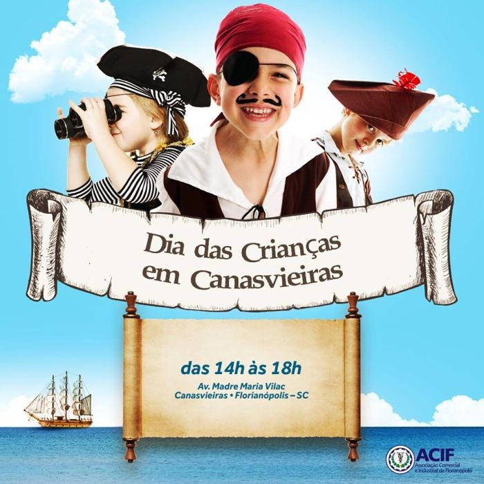 Dia das Crianças tem programação gratuita em Canasvieiras