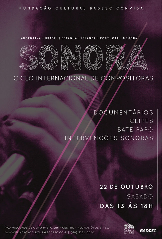 Mostra audiovisual do Sonora Ciclo Internacional de Compositoras