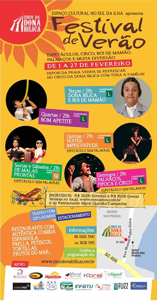 Festival de Verão 2014 no Circo da Dona Bilica