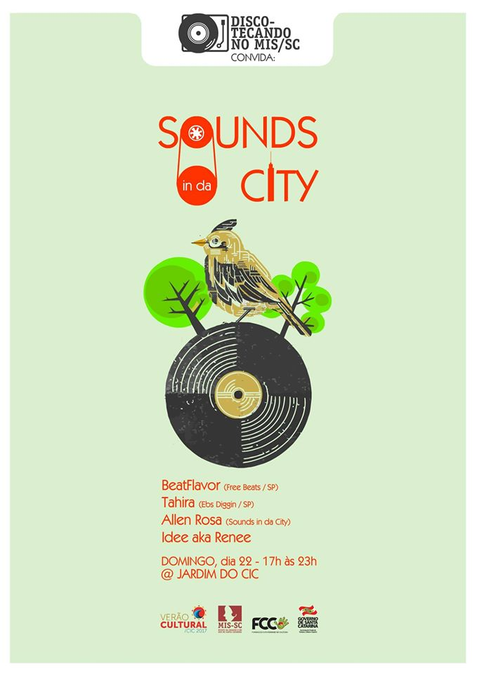Discotecando no MIS com Sounds in da City gratuito ao ar livre no Jardim do CIC