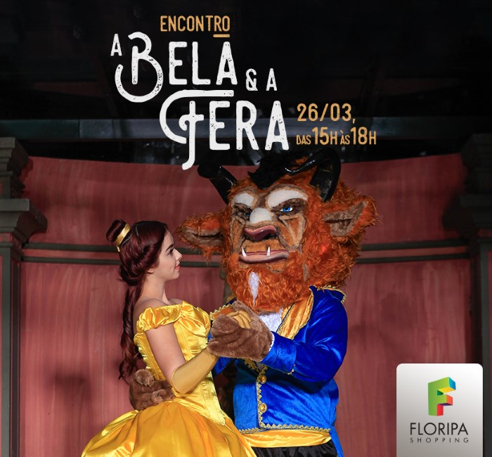 "Encontro com personagens do filme ""A Bela e a Fera"""