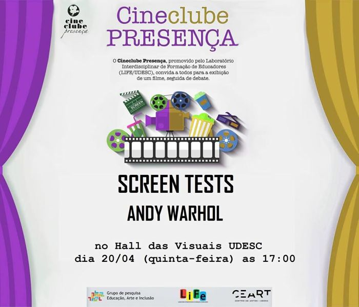"Cineclube Presença exibe ""Screen Tests"" de Andy Warhol"